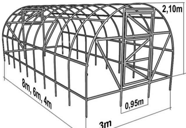 Теплица 4 и 6 метров