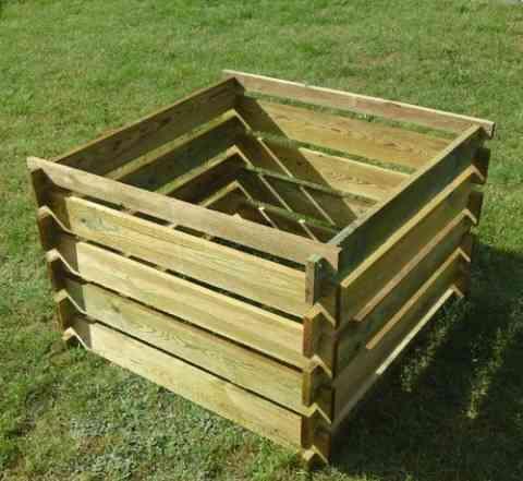 Большой садовый компостер - ящик