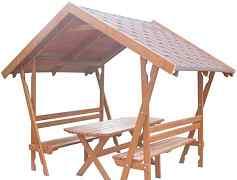 Беседка-конструктор из дерева для дома и дачи