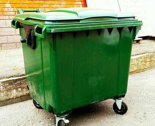 Пластиковый мусорный контейнер 1100 литров