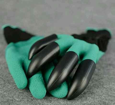 Садовые перчатки(с когтями) garden genie gloves