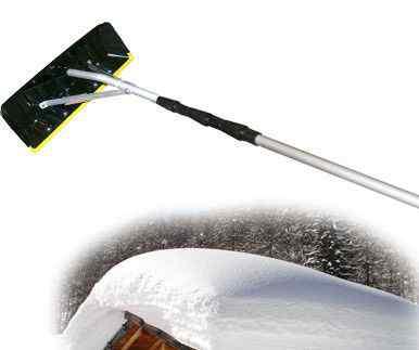 Скребок для уборки снега с крыш 390х150мм skrab