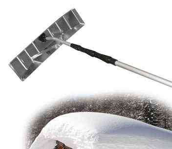 Скребок для уборки снега с крыш 630х160мм Al skrab