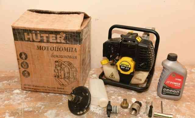 Мотопомпа huter MP-25 (130 л/мин, 7.5 кг, 1.5 л/с