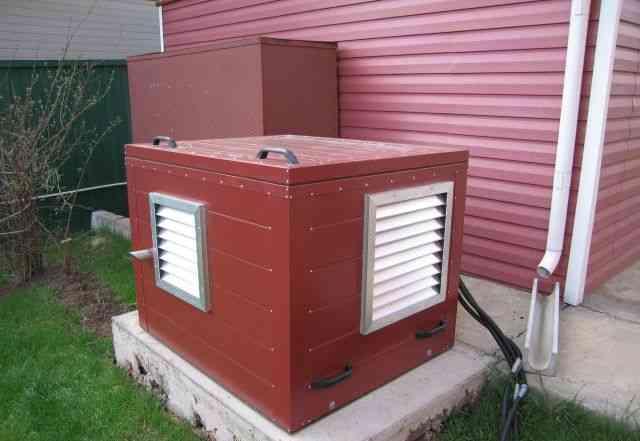 Домик (контейнер) для электростанции