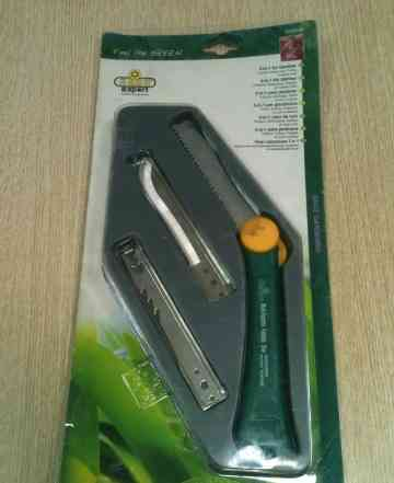 Нож садовый 3 в 1