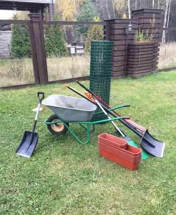Тачка садовая, лопаты, минимойка karcher, уличный