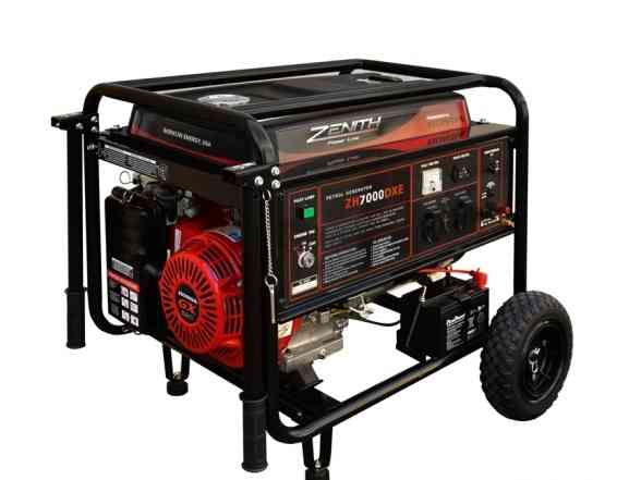Бензиновый генератор zenith ZH7000DXE 6.2ква