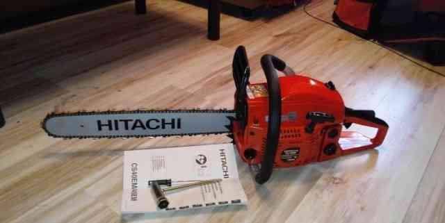 Профессиональная бензопила hitachi CS 45 eм