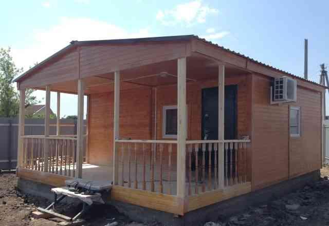 Дачный домик 6х7 с баней 6х2.3