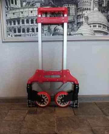 Тележка со складной платформой и колесами