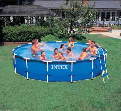 Каркасный бассейн 457 х 91 см Metal Frame Pool Int