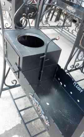 Кованный мангал с крышей+ печь для казана