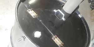 Металлическая 200 литровая бочка с краном