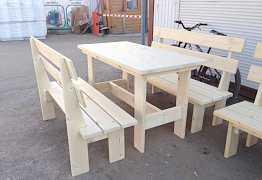 Туалеты, столы, скамейки из дерева