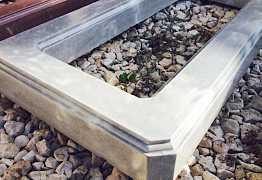 Ритуальная гробница (цветник) полимер бетонная