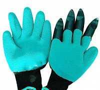 Садовые перчатки Garden genie gloves, голубые