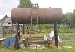 Емкость, бак цилиндрический металлический для воды
