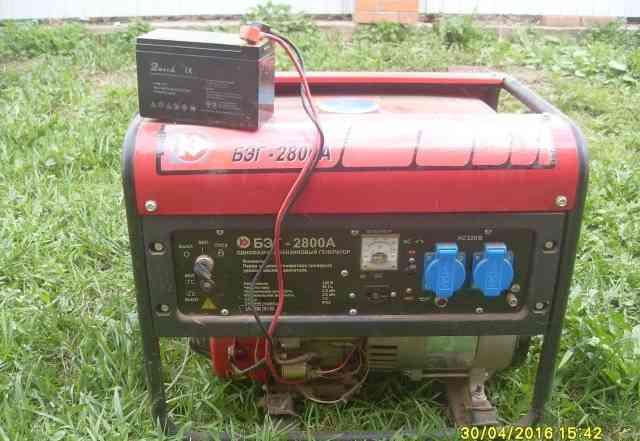Продам бензиновый генератор бэг-2800