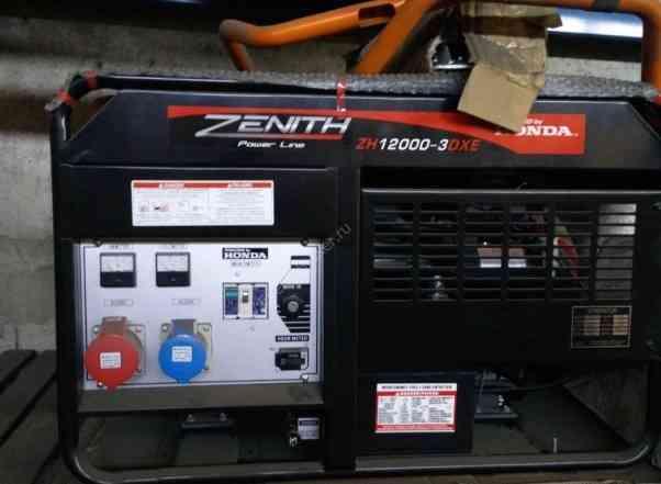 Однофазный бензиновый генератор Zenith ZH12000DXE