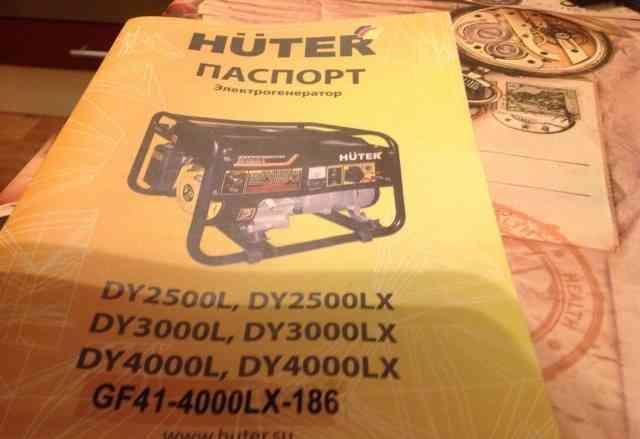 Продаю бензиновый генератор huter DY4000LX