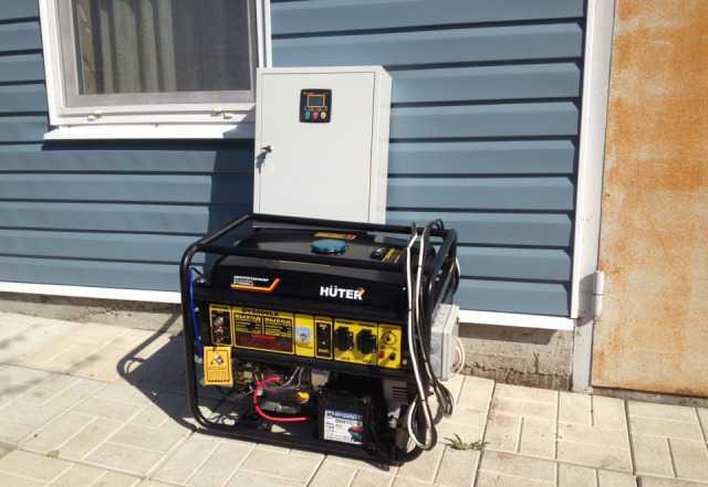 Бензиновый генератор с автоматикой huter DY6500
