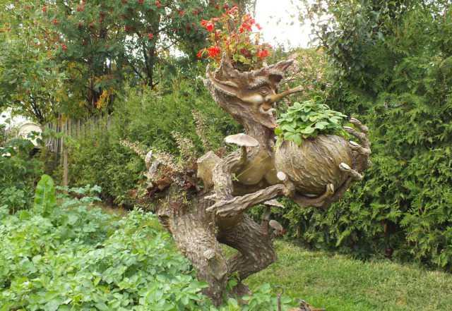 """Скульптура """"Клумба Лесной человечек"""""""