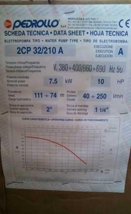 Pedrollo 2CP 32/210A