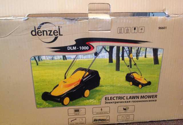 Газонокосилка электрическая denzel 96601