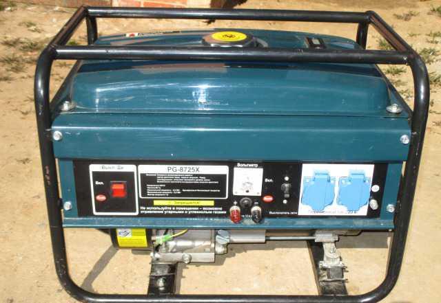 Бензогенератор BauMaster PG-8725X б/у