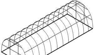 Металический каркас теплицы усилененый 8х3х2м
