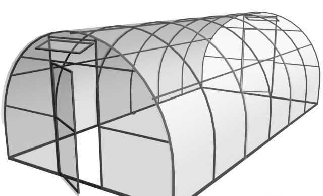 Крепкий стальной каркас для Теплицы (окрашен)