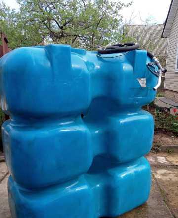 Бак-накопитель для воды/гсм 1500 л пластик