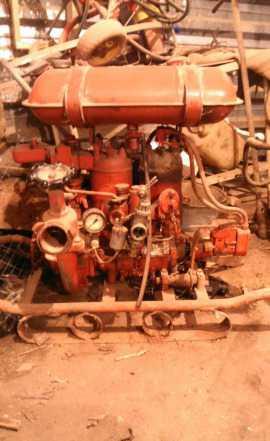 Мотопомпа пожарная, водяной насос