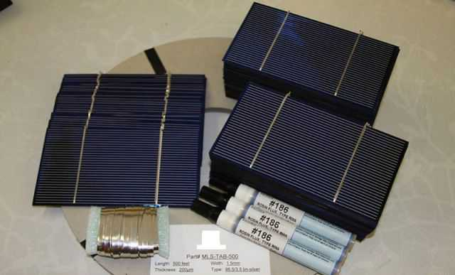 Солнечная батарея 65 Вт с напаянными проводами