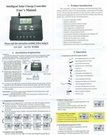 Контроллер для солнечных батарей 80 А 12/24 В