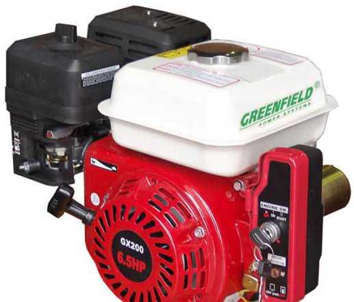 Двигатель бензиновый green field GF 168 FE-1 (GX20