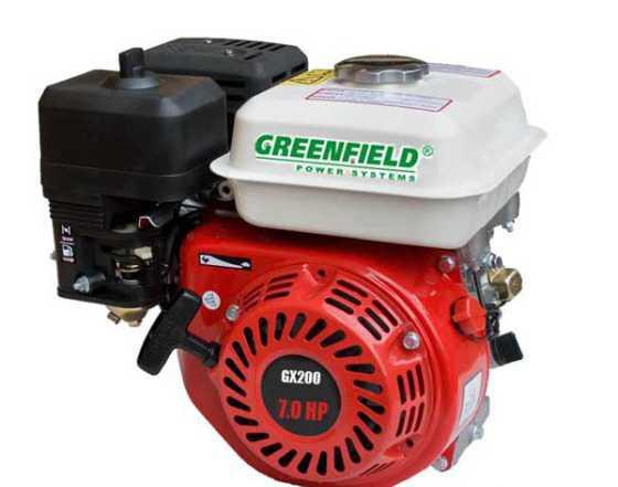 Двигатель бензиновый green field GF 170 F (GX210)