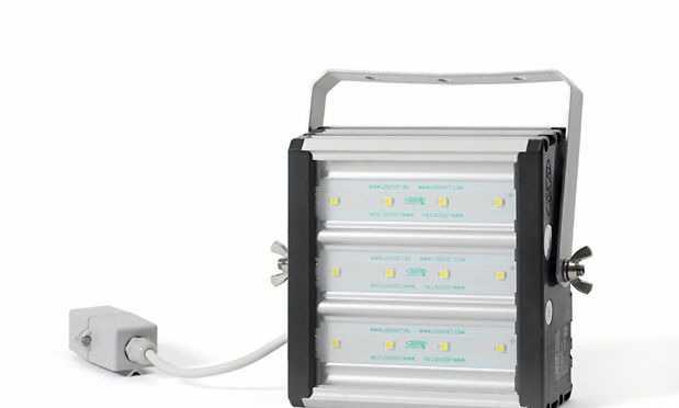 Светодиодный светильник-прожектор синего света
