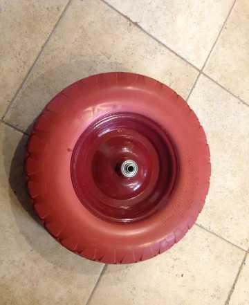 Колесо для садовой тележки литое