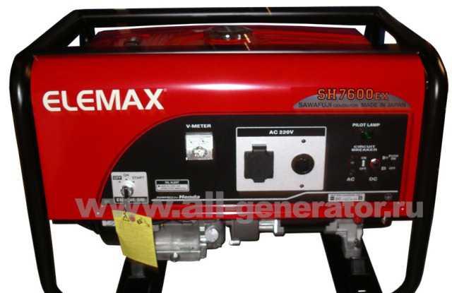 Бензогенератор elemax SH7600EX