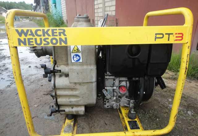 Дизельная мотопомпа для грязи Wacker Neuson PT 3H