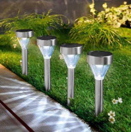 Садовый фонарь на солнечной батарее 14 шт