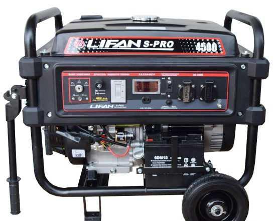 Бензиновый генератор 4.5 кВт Лифан S-PRO 4500