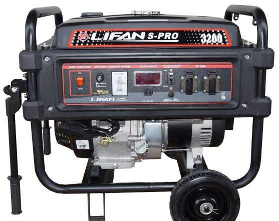 Бензиновый генератор 3.1 кВт Лифан S-PRO 3200