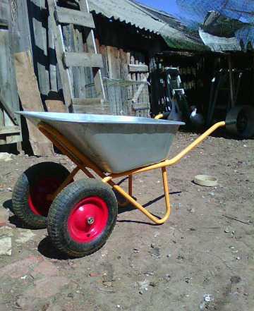 Породам садовую тележку