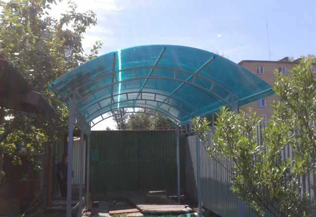 Навесы из поликарбоната 3х6 м
