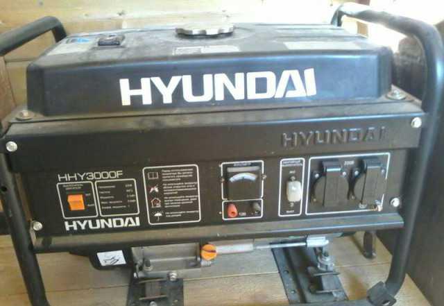 Генератор бензиновый Хэндай HHY3000F б. у