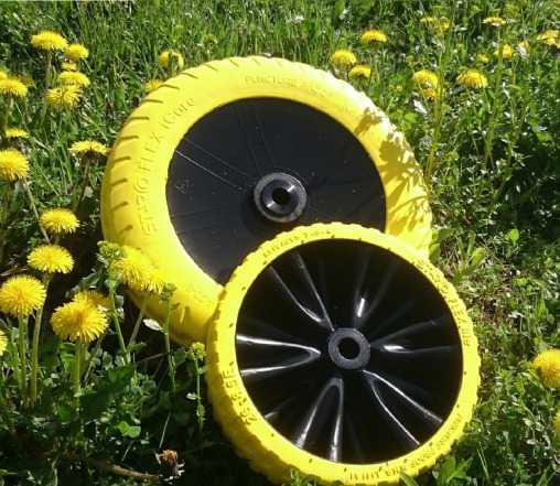 Проколостойкие шины для тачек тележек