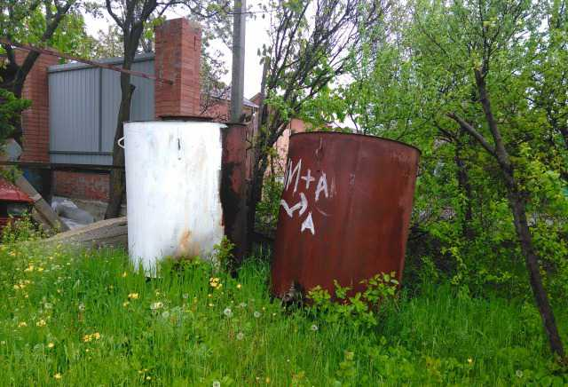 Продам металлические садовые бочки